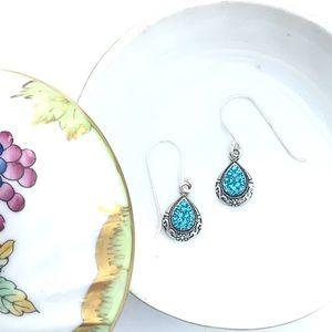 Indicolite Swarovski Sterling Silver Earrings